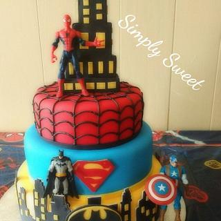 Super hero - Cake by Simplysweetcakes1