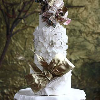 All Wafer Paper Wedding Cake