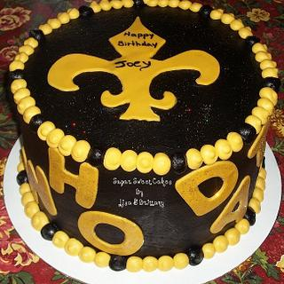Saints ~ Who Dat!? - Cake by Sugar Sweet Cakes