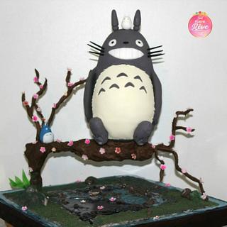Totoro Gravity cake - Cake by Brenda Salcedo Cake Artist