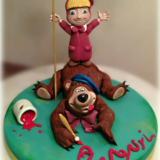 masha and bear cake topper - Cake by Pamela Iacobellis
