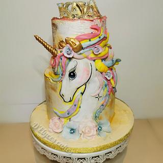 Cake Unikorn hand painted