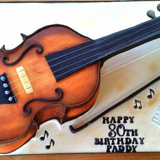 Fiddle Cake - Cake by Cakes Glorious Cakes
