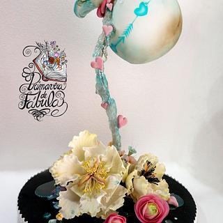 La Vasija Agrietada  (Gravity defying Spring Cake)