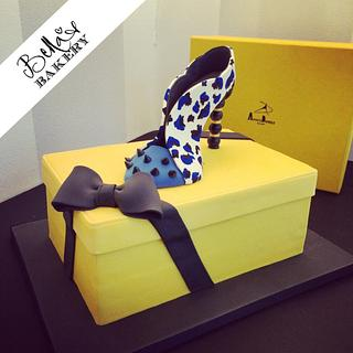 Shoe on a shoebox