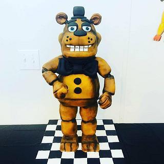 "Freddy ""Five Nights at Freddy's Cake - Cake by Anshalica Miles -Destiny's Delights Custom Cakes"