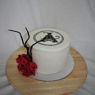 Birthday cake with logo