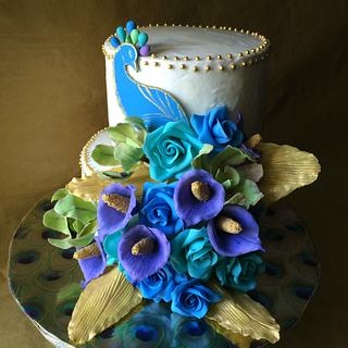 Oh so beautiful Peacock! - Cake by Deepa Shiva - Deecakelicious