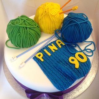 Knitting mad - Cake by chris sandilands