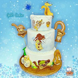 Ice age 3 cake  - Cake by Gele's Cookies