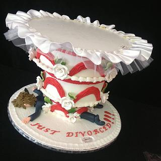 JUST DIVORSED & DUMPTED CAKE by Donna Chalas Greece