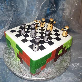 Minecraft and The Daleks Chess