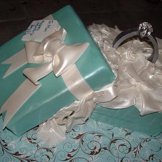 Tiffany Ring Box - Cake by Alissa Newlin