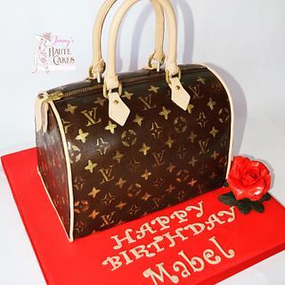 Louis Vuitton Speedy Handbag - Cake by Jenny Kennedy Jenny's Haute Cakes