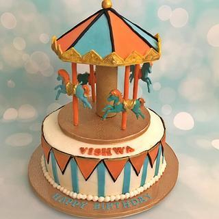 Carousel theme cake - Cake by Shikha