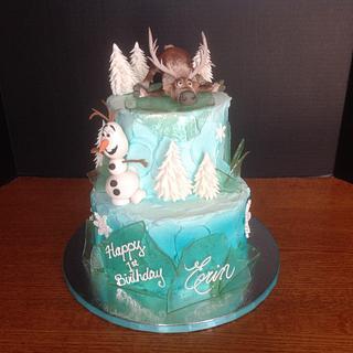 """Sven & Olaf """"Frozen"""" Birthday Cake"""