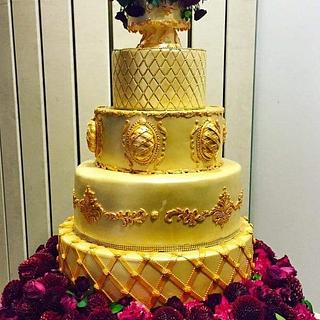 "wedding cake ""Gold & red"""