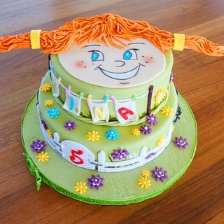 PIPPI Longstocking Birthday Cake
