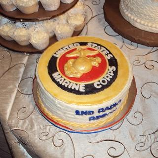 Marine Corps Grooms Cake
