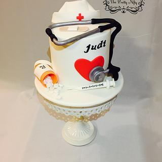 Cake For a Nurse - Cake by Edelcita Griffin (The Pretty Nifty)