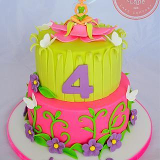 Tinkerbell Cake - Cake by Strawberry Lane Cake Company