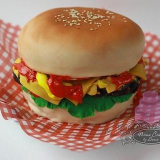 Burger Cake - Cake by Sonia Huebert