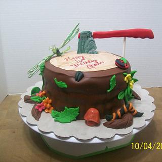 Tree Stump Cake