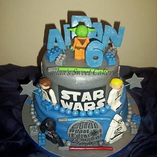 Star Wars Lego Birthday Cake!