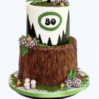Deer Hunter's Birthday Cake