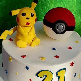 Michelle - Pikachu / Pokemon 21st Birthday Cake