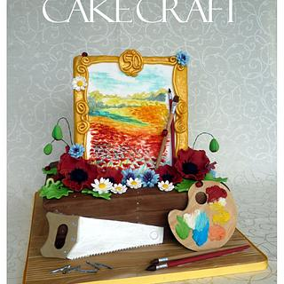 Anniversary cake - artist and woodworker