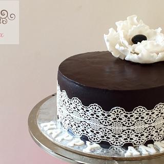 Anniversary cake - Cake by Pink box