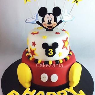 Mickey mouse cake by CakeZania