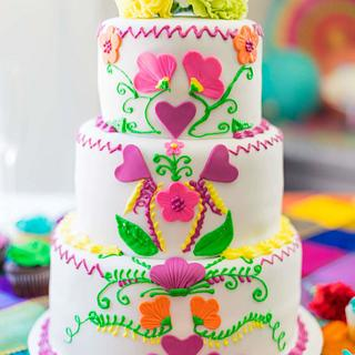 Fiesta Wedding Cake - Cake by Tiffany DuMoulin