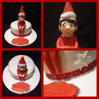 Elf on the shelf cake