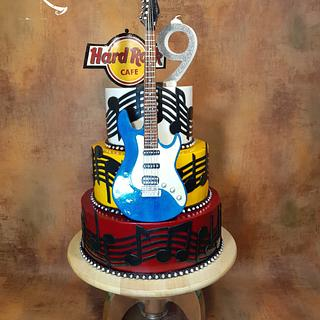 Cake for Hard rock cafe