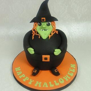 Fun Halloween Witch Giant Cupcake Tutorial