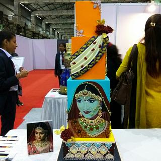 "Wedding cake - Theme "" Indian Sari"""
