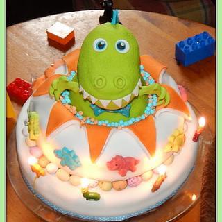 Dino Explosion Cake