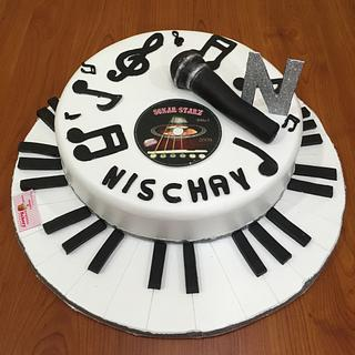 Music Theme Cake  - Cake by Michelle's Sweet Temptation