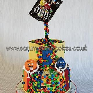 M&M Gravity Defying Cake