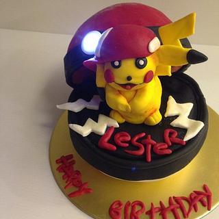 Pikachu, pokemon cake