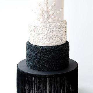 Diamonds & Bling Wedding Cake