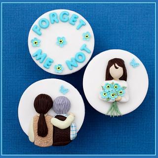 Dementia Awareness Week - Forget Me Not - Cake by sarah