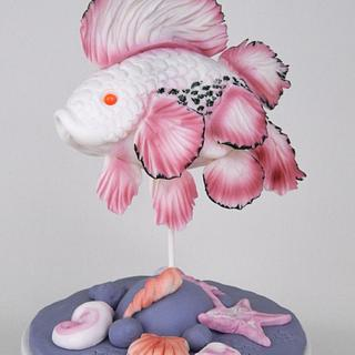 3D Exotic Fish Sculpture