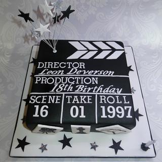 Clapper board cake