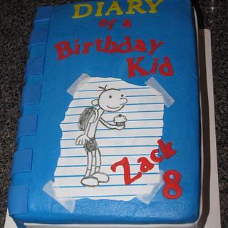 Diary of a Birthday Kid  - Cake by Deborah