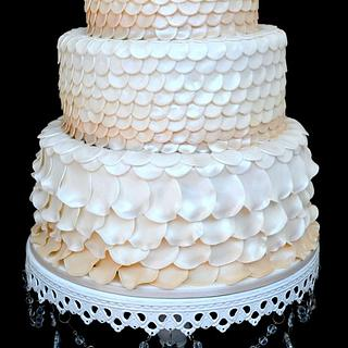 Ivory Ombre Petals - Cake by Suzanne