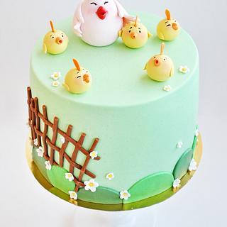 children's birthday cake for chickens fan