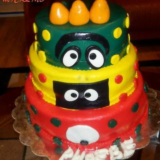 A YO GABA GABA BIRTHDAY CAKE - Cake by Linda